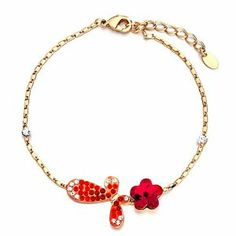Pugster Golden Chain Butterfly Swarovski Crystal July Birthstone Light Siam Flower Ankle Bracelet Anklet Lobster Clasp Pugster. $28.79. Free Gift Box. Made with Swarovski Elements. Money-back Satisfaction Guarantee. The perfect accessory for evening or day wear. 9 Inch to 10 inch Length Adjustable Anklet