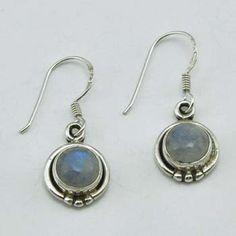Round Plata Gem Earrings $16