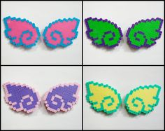 2pc Angel Wings HAIR CLIPS // Pastel Goth Sweet Lolita Kawaii Angel Wings // Perler Hama Fuse Beads // (Pick COLOR) by RainbowMoonShop on Etsy