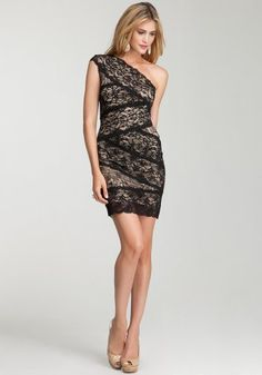 http://fashionstylepics.com/bebe-one-shoulder-mixed-lace-dress-spcl-eventseve-dresses-blacktan-xs/fashionstyle bebe One Shoulder Mixed Lace Dress Spcl Events/eve Dresses Black/tan-xs #CocktailDress #Cocktail