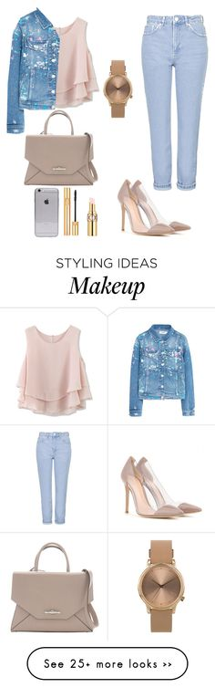 """Outfit #69"" by itcarlota on Polyvore featuring Chicwish, Topshop, Yves Saint Laurent, MANGO, Givenchy and Gianvito Rossi"