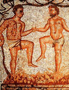 Mosaico romano encontrado en Merida España.Se sabe que durante el Imperio Romano,se introdujeron varias cepas de uva a España y le enseñaron sus tecnicas vitivinicolas a los locales,enseñanzas que hasta el dia de hoy se usan en varios pueblos donde la uva se sigue pisando con los pies tal como muestra este extraordinario mosaico-