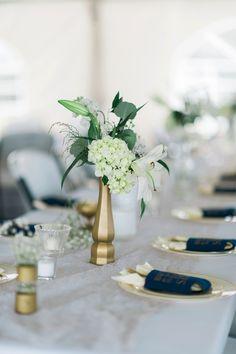 A Navy and Gold North Carolina Wedding | Melissa Stallings Photography