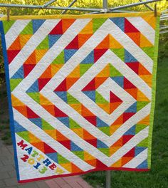 shinykari:   All Around Rainbow by Slightly Off Quilter  Project inspiration!