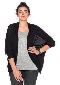 #schwarz #weiß #fashion #plussize #plussizefashion #curvyfashion #casual #cardigan #jacket #sheego    Casual Shirtjacke