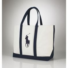 Ralph Lauren Big Pony Canvas Handbag Darkblue is on clearance sale, the  world lowest price 9c750bbf19