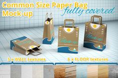 Shopping Paper Bag Mock-up by illiachenvar on Creative Market