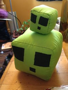 Minecraft Slimes I made for my little brother for Christmas