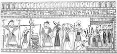 Kleur nu je eigen echte Egyptische muurschildering met deze kleurplaat. Voor meer kleurplaten, klik op de afbeelding!