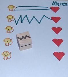 Great pre-writing activity. Roll the DIY die and draw the pattern from left to right to connect stickers. This would be so easy to make and a great activity for students with fine motor and handwriting challenges. Get all the directions and see more gre