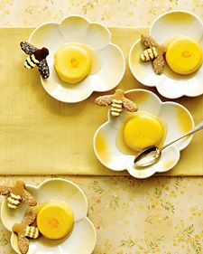 Panna cotta traditionally hails from Italy, but our version is decidedly Middle Eastern. Heady saffron imparts a sunny color; toasted almonds, honey, and lemon zest round out the exotic flavor.