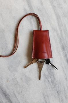 Margaret Howell Key Holder: Remodelista Nifty key chain that wouldn't be difficult to diy