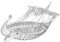 Scroll down to Classroom Activities for this picture. Very nice site! See Literacy Links for Timeline and Viking World Map Great Teachers Notes Viking Ship, Norse Vikings, Seafarer, Maritime Museum, History Class, Arts Ed, Anglo Saxon, Winter Art, American History