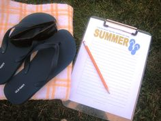 DIY on a Dime: The Summer To Do List -- Plan for summer fun now. Make a list and check it — at least twice. FREE printable included.