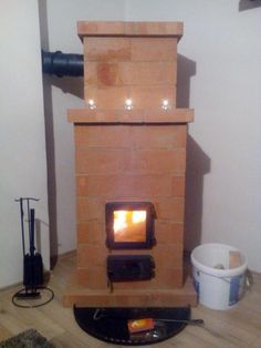 Hordozható Téglakályha Kitchen Stove, Up House, Stoves, Simple Living, Rustic Wood, Barbecue, Projects To Try, Pottery, Design Case