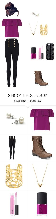 """""""secondary colors"""" by mandymaesimpson ❤ liked on Polyvore featuring Dorothy Perkins, Balmain, American Rag Cie, Louis Vuitton, MAC Cosmetics, NARS Cosmetics and Savannah Hayes"""