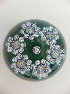 Peter McDougall Very Limited Edition of 30 (8cm) Millefiori Garland Paperweight in Pottery, Glass, Glass, Paperweights | eBay!