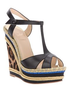 Christian Louboutin Wedge Sandals - they make such a statement when I wear them!