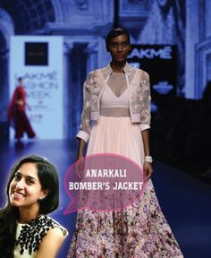 Bridal fashion tips for the trousseau for Indian weddings by fashion designer Ridhi Mehra | Ileana Cruz walks the ramp |Go unconventional brides - Pair Bombers Jacket with Anarkali! | Curated by Witty Vows| The ultimate guide for the Indian Bride to plan her dream wedding. Witty Vows shares things no one tells brides, covers real weddings, ideas, inspirations, design trends and the right vendors, candid photographers etc.| #bridsmaids #inspiration #IndianWedding | Curated by #WittyVows