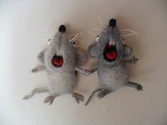 Needle Felted Mouse Mouse-magnet by LarisaWorldOfFelt on Etsy