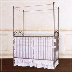 $879 baby crib | designer nursery | luxury crib pewter