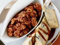 Port-Glazed Walnuts with Stilton