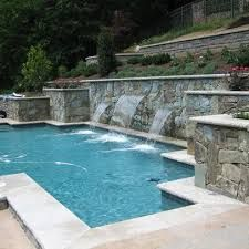 terraced wall with pool - Google Search