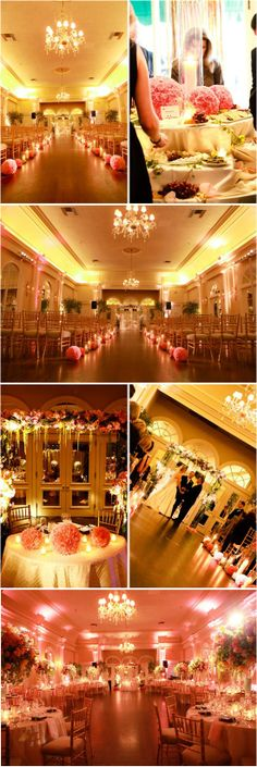 Pink   gold wedding decorations. (I
