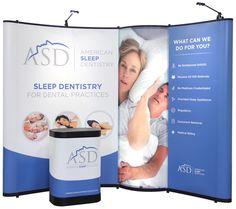 American Sleep Dentistry Pop-Up Trade Show Display