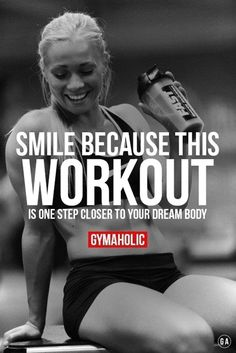 gymaaholic: Every workout is one step closer to your goal. Keep up the hard work !!! http://www.gymaholic.co/motivation #FitnessMotivation