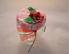 Flori de mac - Borcanel decorat cu floricele Mac, Handmade, Decor, Hand Made, Decorating, Decoration, Dekorasyon, Deco, Embellishments