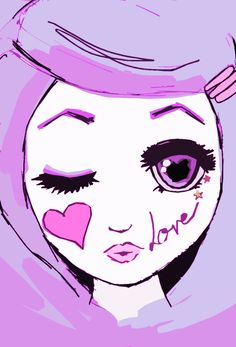 Roxie Girl Illustration #Purple