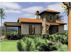 Eplans Mediterranean House Plan - One Bedroom Mediterranean - 972 Square Feet and 1 Bedroom from Eplans - House Plan Code HWEPL65860