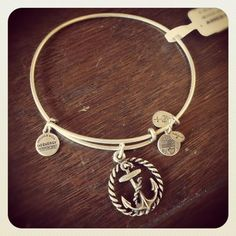 Alex and Ani Nautical Expandable Wire Bangle - Russian Silver #charmedarms