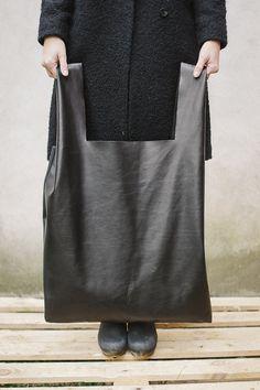 Black Oversized Bag shopper bag di patkas su Etsy