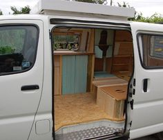 After fitting the roof but before upholstery and flooring Toyota Hiace Campervan, Toyota Camper,