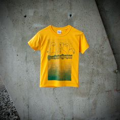 T-shirt Kid Monster Village Yellow Boy by MoustacheMoutarde