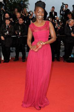 """Aissa Maiga en la première de """"Amour"""" en la alfombra roja del Festival de Cannes"""