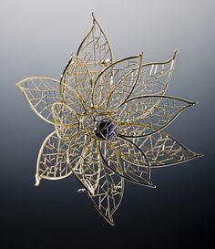 Lotus II brooch by Baiyang Qiu