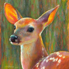 Rita Kirkman's Daily Paintings: Listening - day 29