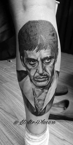 Scarface Portrait #Greywash  Mister Placaso