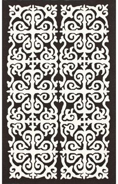 Rugs USA Homespun Damask Trellis Brown Rug