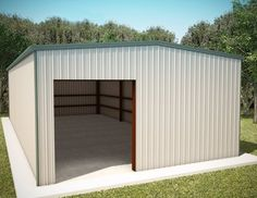 Duro Steel Metal Building Factory Direct New Residential Garage Shop by… Storage Buildings For Sale, Shop Buildings, Steel Buildings, Pole Buildings, Steel Garage Kits, Service Auto, Metal Shop Building, Barn Kits, Metal Garages