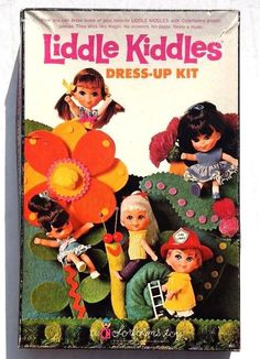 Vintage 1968 LIDDLE KIDDLES DRESS UP KIT Box Set 495 #LittleKiddles