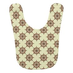 Ship's Wheel Print Baby Bibs | Ship's Wheel Print Bib Designs