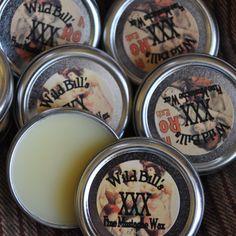Wild Bill's XXX Brand Fine Mustache Wax Stiff by wildbillsmustache, $6.00