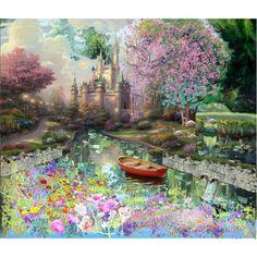 Tomas Kinkade meets Monet in a Disney park setting.