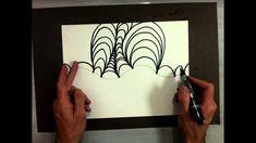 Op Art Drawing Columns (Part 1/2)