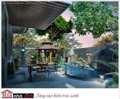 Biệt thự đẹp phong cách nhà vườn nhà anh Lý