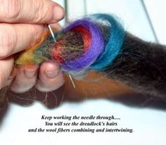 Here's a picture tutorial showing how to use Wool to add color to Dreadlocks through 'Felting'..... I created this tutorial for a couple people at another dreadlock community, and thought I'd try my hand at posting it here. I know there's another post in the memories about wool felting, but I put…